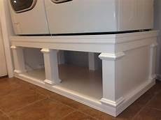 White S Washer Dryer Pedestal Diy Projects