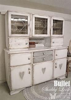 Möbel Streichen Vintage Look - wesnuschka buffet mit herzen im polka dots shabby look
