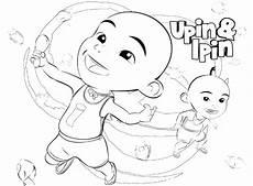Gambar Mewarnai Upin Ipin Untuk Anak Paud Dan Tk