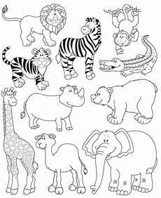 Ausmalbilder Zootiere Zeichnen Animales De La Selva Dschungeltiere Wilde Tiere Tiere