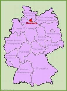 hamburg location on the germany map