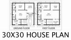 30x30 house plans 30x30 house plan 2d map by nikshail youtube