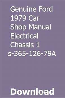 car repair manuals online pdf 1991 mercury capri engine control genuine ford 1979 car shop manual electrical chassis 1 fps 365 126 79a car shop chilton