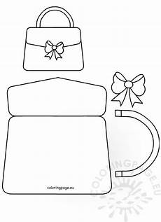 handbag card template free handbag card template s day craft coloring page