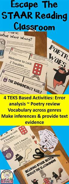 worksheets for 18166 reading staar review escape the classroom 4th literacy escape the classroom reading test