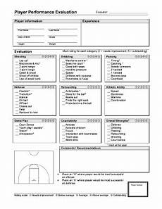 basketball player evaluation fill online printable fillable blank pdffiller
