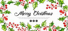 watercolor floral merry christmas banner download free vectors clipart graphics vector art