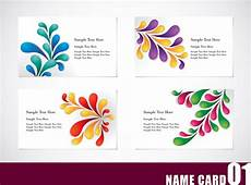 colorful name card template colorful card template vector free vector 4vector