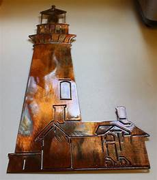 lighthouse metal wall art