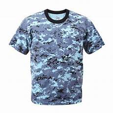 digital sky blue camouflage t shirt
