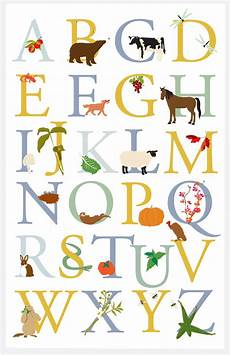 alphabet poster vermont animals and plants cultivated 11