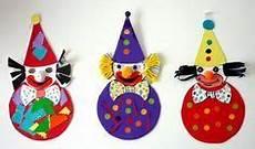 Basteln Zum Fasching - bastelsachen3 clowns aus bierdeckel basteln fasching