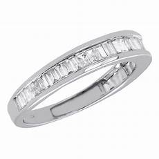 10k white gold baguette diamond wedding band 2 65mm