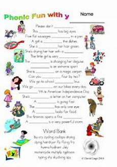 3 magic pages of phonic fun with y worksheet dialogue and key 27 esl worksheet by david lisgo