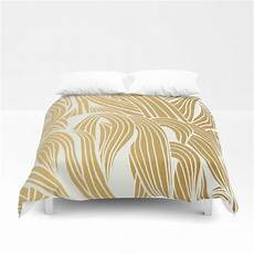 White And Gold Duvet Cover by Gold White Pattern Duvet Cover By Cat Coquillette Society6