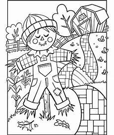 scarecrow coloring page crayola