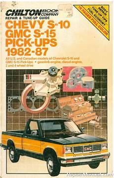 how to download repair manuals 1992 chevrolet s10 seat position control used chilton 1982 1987 chevy s10 gmc s15 pick ups repair manual