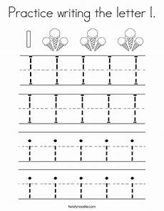 letter i handwriting worksheets for kindergarten 23501 practice writing the letter i coloring page twisty noodle