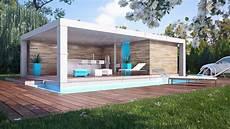 Home Cube Pool House Id 233 Es Deco Abri Piscine Cabanes