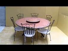 Table Mosaique Avec Plateau Tournant