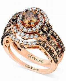 le vian 14k strawberry gold 174 bridal chocolate