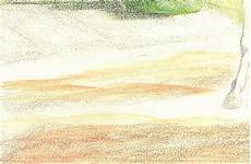 how to draw realistic dirt ground soil with colored pencil