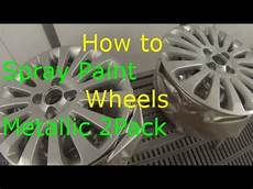 how to paint alloy wheels silver metallic 2 youtube
