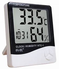 Image Clock Temperature Humidity Meter Electronic by Htc1 Temperature Humidity Time Display Meter With Alarm