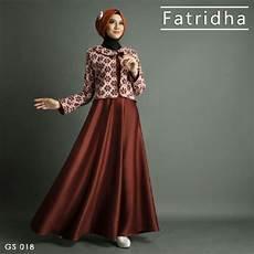 Gamis Pesta Satin A255 Premium Coklat Baju Muslim Modern