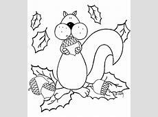 Herfst: kleurplaten eekhoorn