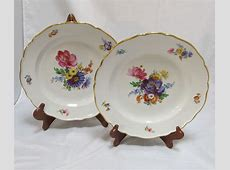 Pair Meissen Floral Plates from thesteffencollection on