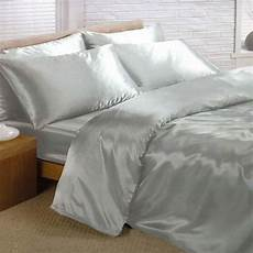 satin bedding sets duvet cover fitted sheet pillowcases ebay