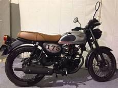 Kawasaki W175 Modif by Modifikasi Kawasaki W175 Scrambler Vintage Sekedar Coretan