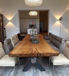 Eichentisch Baumtisch Esstisch Unverleimt Aus Einem St 252 Ck