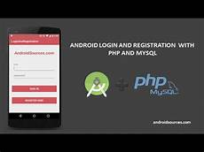android login and registration with php and mysql tutorial youtube
