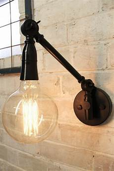 swing arm wall l in black adjustable industrial light fat shack vintage