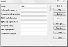 excel 2010 data input forms