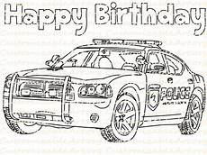 birthday favor printable car coloring page