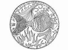 Malvorlagen Mandala Fische Mandala Fish M Alas Coloring Pages
