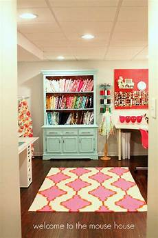an incredible colourful basement craft room haven heart