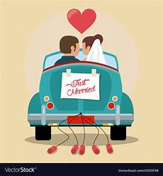 Malvorlagen Auto Just Married Just Married In Car Royalty Free Vector Image