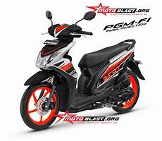 Honda Beat Modif modif decal design honda beat fi black orange ceria