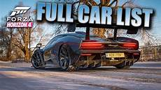 Forza Horizon 4 Car List With Pictures