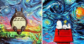Artists Uses Pop Cultural Icons In Recreation Of Van Gogh