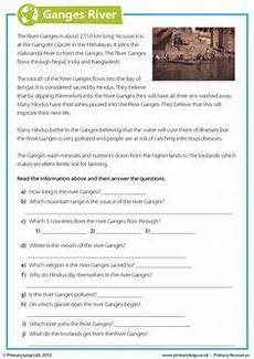 year 8 science worksheets uk 12434 this year 6 geography worksheet includes interesting facts about the ganges river children read