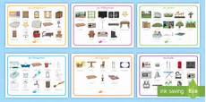 Teile Eines Hauses Wortschatzsammlung Querformat