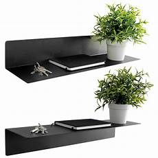 wandregal metall schwarz wandregal 55x15x9cm metall schwarz multistore 2002