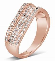 1 carat designer luxurious diamond wedding ring band in rose gold jeenjewels