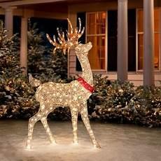 Decorations Outdoor Sale by Buy Sale 60 Quot Outdoor Lighted Pre Lit Golden Buck Reindeer
