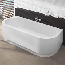 Badewanne Halb Freistehend - hoesch happy d halbrunde badewanne mit angeformter sch 252 rze